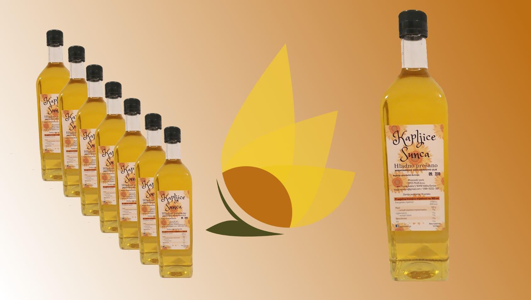 Hladno prešano nerafinirano suncokretovo ulje